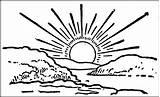 Sunrise Coloring Drawings Designlooter 92kb 627px 1024 sketch template