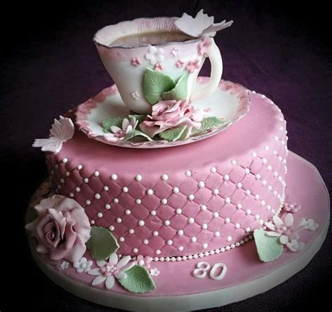 Teacup And Rose Vintage Cake By Tracey Cakes Cake