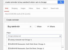 Create Reminders in Google Search