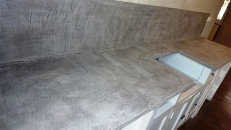 beton ciré pour plan de travail cuisine la box brico pour réaliser soi même béton ciré