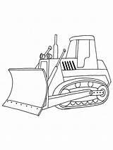 Bulldozer sketch template
