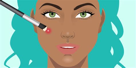 How To Hide A Pimple How To Cover Up Acne