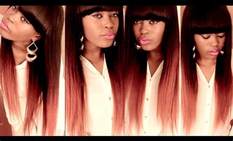 Diy Burgundyauburn Ombre Hair Color Tutorial Using A