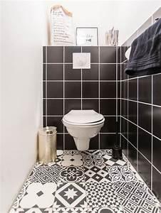 les 25 meilleures idees concernant carrelage wc sur With carrelage adhesif salle de bain avec mini led downlights