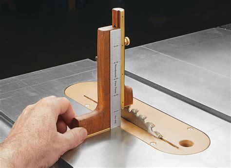 setup gauge woodworking project woodsmith plans
