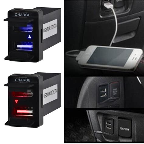 hot sale dual usb charger audio port interface  toyota