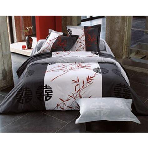 housse de couette chinois parure de lit 2 places design signe chinois