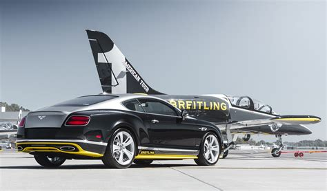 extremely rare bentley continental speed breitling jet