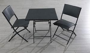Table De Jardin Grise : ensemble table 2 chaises pliantes pour jardin en r sine ~ Dailycaller-alerts.com Idées de Décoration