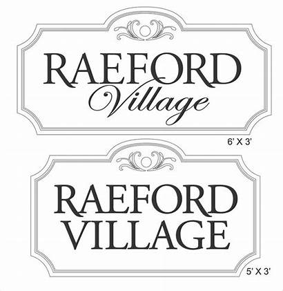 Wood Signs Carved Village Submission Raeford