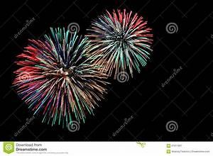 Green Red Blue White Golden Fireworks Stock Image - Image ...