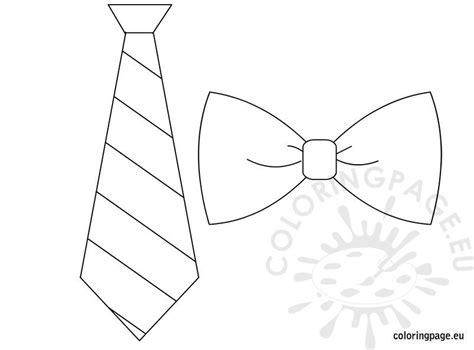 tie bow tie template coloring page