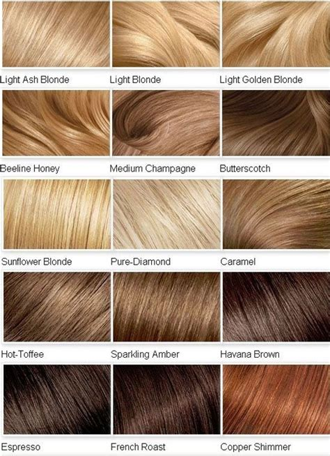 blonde color shades  hair blonde color chart