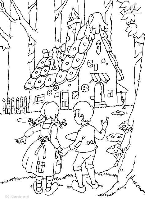 Kleurplaat Heks Hans En Grietje by Kleurplaat Hans En Grietje