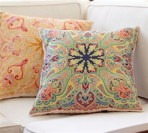 pottery barn large decorative pillows penelope indoor outdoor pillow pottery barn