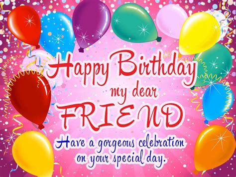 Find images of happy birthday card. Happy Birthday Friend Pictures, Messages, Quotes & Cards