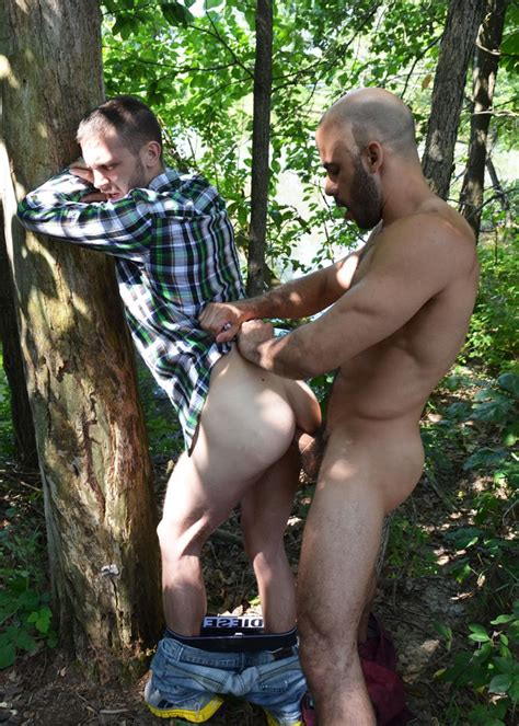 best friends austin wilde and arnaud chagall muscle fuck in the woods nuttybutt