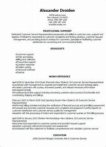 1 customer service representative resume templates try With customer service summary
