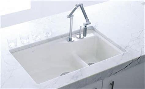 white cast iron kitchen sink kohler k 6411 2 0 undercover offset cast iron 1755