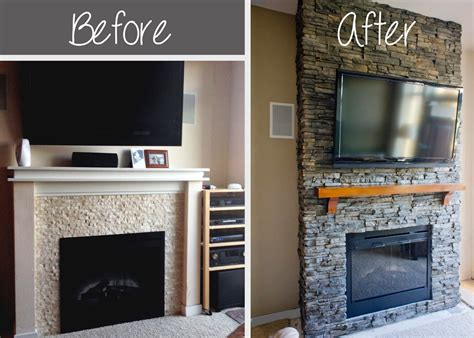 Faux Stone Fireplace Diy Diy Stacked Stone Fireplace