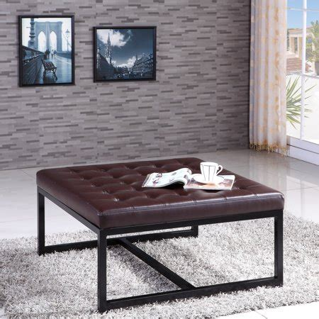 Tufted Signature Ottoman by Visionxpro Inc Signature Designs Modern Metal Tufted