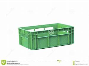 Foldable Green Plastic Storage Box On A White Background ...