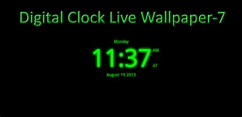 Digital Clock Wallpaper by Digital Clock Live Wallpaper 7 Apps On Play