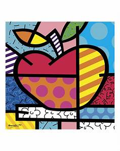 The Apple- Romero Britto – McGaw Graphics