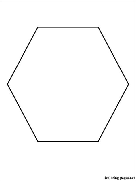 hexagon coloring page coloring pages