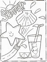 Coloring Summer Pages sketch template