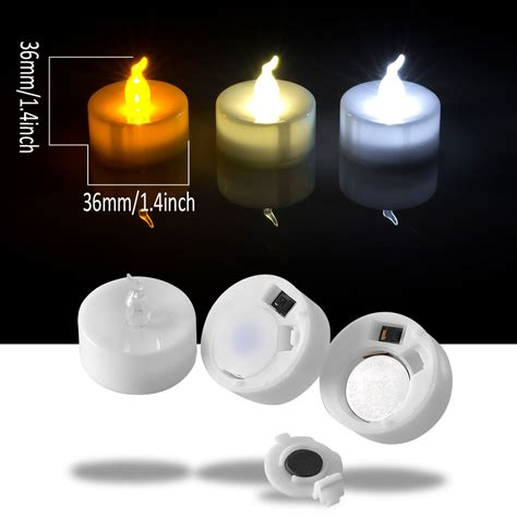 flickering led candle lights 24 pcs led tealight battery operated flameless flickering