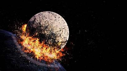 Explosion Space Hit Blast Wallpapers Iphone 1440