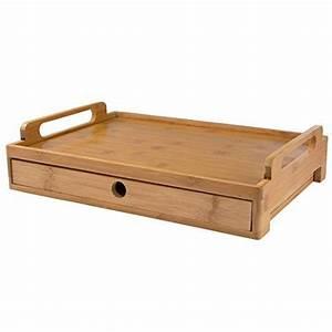 Tablett Mit Henkel : levivo tablett aus bambus mit schublade serviertablett mit henkel bambustablett rechteckig ~ Watch28wear.com Haus und Dekorationen