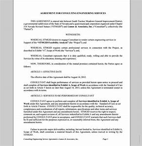 consulting engineering services contract sample contracts With engineering services contract template