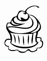 Cupcake Outline Coloring Birthday Drawing Clipart Cake Slice Pages Happy Clip Cupcakes Printable Line Clipartion Clipartbest Card Clipartmag Cartoon Drawings sketch template