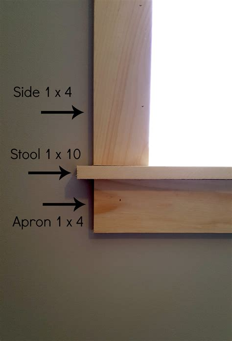 Window Stool Trim by Turtles And Tails Installing Craftsman Style Door