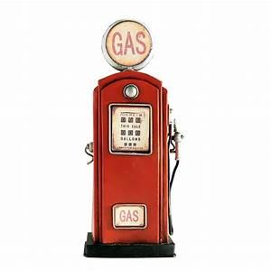Pompe A Essence : tirelire pompe essence en m tal rouge h 32 cm maisons ~ Dallasstarsshop.com Idées de Décoration