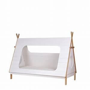 Lit Enfant Bois : cadre de lit enfant bois avec sommier tipi drawer ~ Teatrodelosmanantiales.com Idées de Décoration