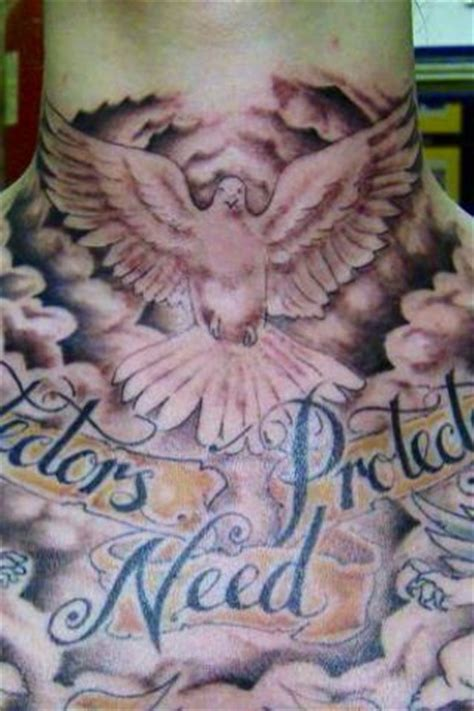 amazing front neck tattoos