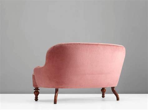 Pink Velvet Settee by Pink Velvet Settee 1930s For Sale At 1stdibs