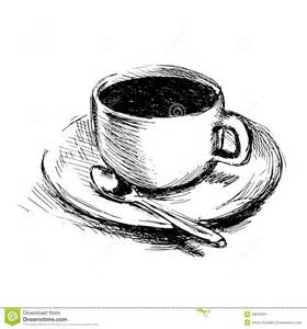 Coffee Cup Drawing Sketch