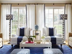 Stephanie, Kraus, Designs, Blue, And, White, Living, Room
