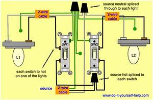 1 Light Switch 2 Lights Wiring Diagram