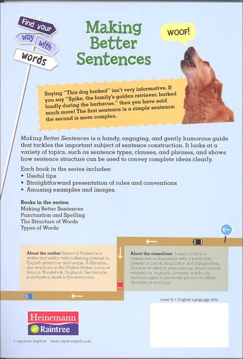 Making Better Sentences The Power Of Structure And Meaning (find Your Way With Words) (058375