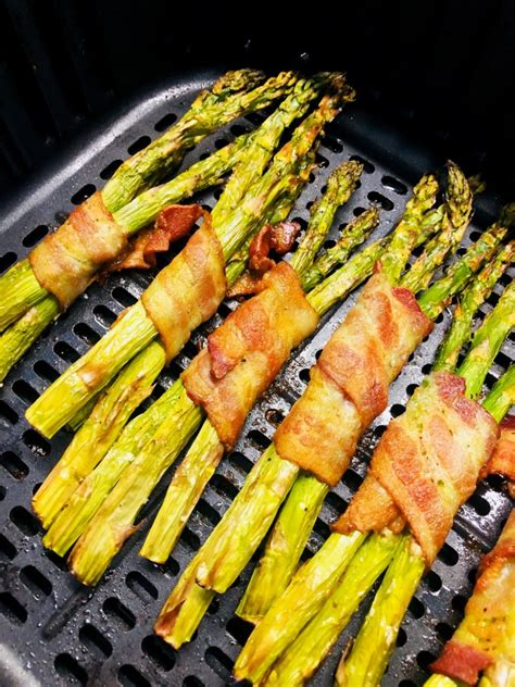 asparagus bacon air fryer wrapped