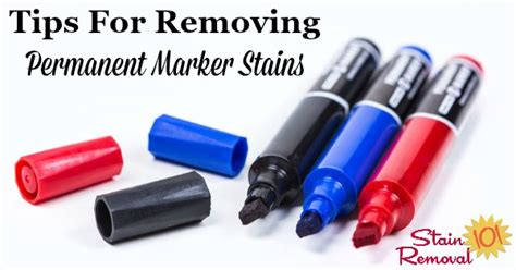 Removing Permanent Marker Stains