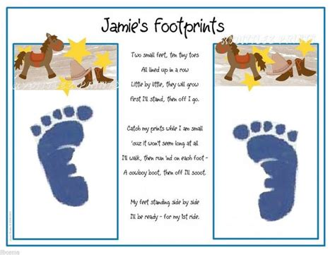 footprints poem ideas  pinterest handprint