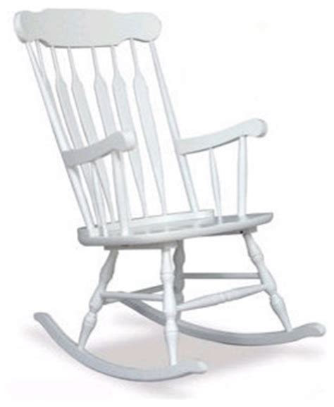 rocking chair in white traditional rocking