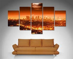Los Angeles 5 Panel Wall Art Canvas Print