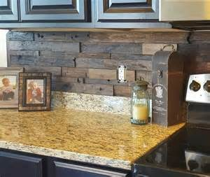 wood kitchen backsplash we this reclaimed wood architectural wall tile backsplash from our customer photo gallery